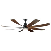 Monte Carlo Fans 8KGR72BKD Kingston 72 inch Matte Black with Dark Walnut Blades Indoor Ceiling Fan