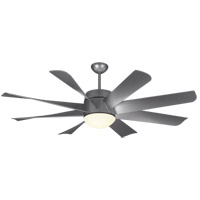 Monte Carlo Fans 8TNR56PBSD-V1 Turbine Led 56 inch Painted Brushed Steel Ceiling Fan