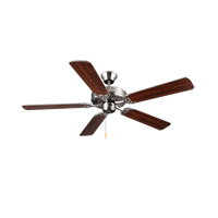 HomeBuilder I 52 inch Brushed Steel with Silver Blades Ceiling Fan