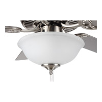 HomeBuilder II 52 inch Brushed Steel with Silver and American Walnut Blades Builder Fan in Acid Frosted
