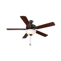 HomeBuilder II 52 inch Bronze with Bronze and American Walnut Blades Builder Fan in Acid Frosted