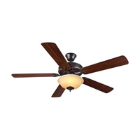 HomeBuilder II 52 inch Bronze with Bronze and American Walnut Blades Builder Fan in Amber