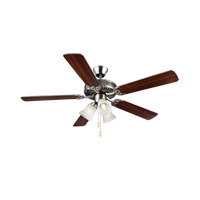 Monte Carlo Fans BF3-BS HomeBuilder III 52 inch Brushed Steel with Silver Blades Ceiling Fan