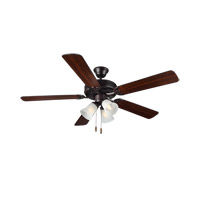 HomeBuilder III 52 inch Bronze with Bronze and American Walnut Blades Builder Fan