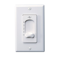Monte Carlo Fan Company Wall Control Fan Accessory in White ESSWC-3-WH