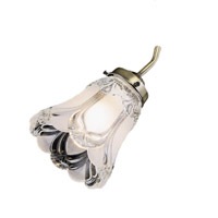 Monte Carlo Fan Company 2.25in Neck Fan Glass in Clear / Frosted Victorian G833 photo thumbnail