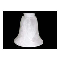 Monte Carlo Fan Company 2.25in Neck Fan Glass in White Faux Alabaster G990 photo thumbnail