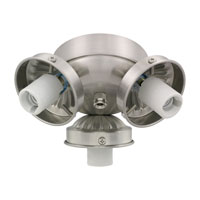 Monte Carlo Fans H3BS-L Signature 3 Light Incandescent Brushed Steel Light Fitter, Shades not included