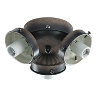 Monte Carlo Fan Company 2.25in Neck 3 Light Fitter in Mediterranean Bronze H3MB photo thumbnail