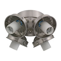 Monte Carlo Fans H4BS-L Signature 4 Light Incandescent Brushed Steel Light Fitter, Shades not included