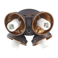Monte Carlo Fans H4RB-L Signature 4 Light Incandescent Roman Bronze Light Fitter, Shades not included