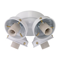 Monte Carlo Fan Company 2.25in Neck 4 Light Fitter in White H4WH-L