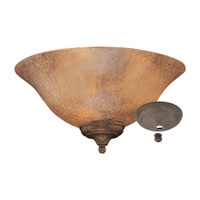 Monte Carlo Fan Company Crackle Bowl 3 Light Light Kit in Amber Crackle MC144-L
