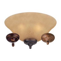 Monte Carlo Fan Company Bowl 3 Light Light Kit in Tea Stain Mission MC165-L