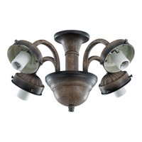 Monte Carlo Fan Company 2.25in Neck 4 Light Fitter in Mediterranean Bronze MC183MB