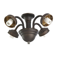 Monte Carlo Fans MC183RB-L Signature 4 Light Incandescent Roman Bronze Light Fitter, Shades not included