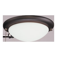Monte Carlo Fan Company Matte Opal Disk 1 Light Light Kit in Roman Bronze MC18RB-B photo thumbnail