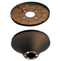 Monte Carlo Fan Company Semi-Flush Mount Wet Heavy Duty Canopy Canopy in Roman Bronze MC192RB