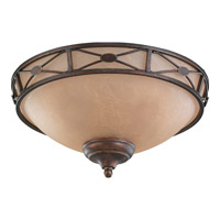 Monte Carlo Fan Company Deco Medallion Bowl 3 Light Light Kit in Tuscan Bronze MC21TB-L photo thumbnail