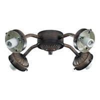 Monte Carlo Fan Company 2.25in Neck 4 Light Fitter in Mediterranean Bronze MC37MB