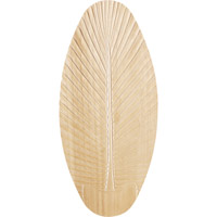 Monte Carlo Fan Company 52in Carved Wood Palm Leaf Blades Blade Set in Light Teak Wood MC5B192 photo thumbnail