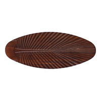 Monte Carlo Fan Company 60in Carved Palm Leaf Blades Blade Set in Dark Walnut MC5B216