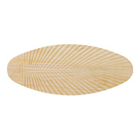 Monte Carlo Fan Company 60in Carved Palm Leaf Blades Blade Set in Light Teak Wood MC5B218 photo thumbnail