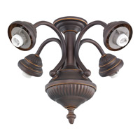 Monte Carlo Fan Company Signature 4 Light Fitter in Roman Bronze MC73RB-L