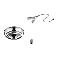 Signature Polished Nickel Pull Chain Bowl Cap Kit