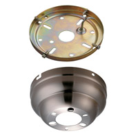 Monte Carlo Fan Company Flush Mount Canopy Kit Fan Accessory in Brushed Steel MC90BS