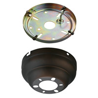 Monte Carlo Fan Company Flush Mount Canopy Kit Fan Accessory in Roman Bronze MC90RB