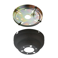 Monte Carlo Fan Company Flush Mount Canopy Kit Fan Accessory in Weathered Iron MC90WI photo thumbnail