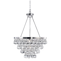 Matteo Lighting C00104CH Crystal Fruit Vacio 4 Light 18 inch Chrome Pendant Ceiling Light