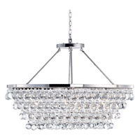 Matteo Lighting C00106CH Crystal Fruit Vacio 6 Light 18 inch Chrome Chandelier Ceiling Light