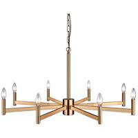 Matteo Lighting C52608AG Euryale 8 Light 36 inch Aged Gold Brass Chandelier Ceiling Light