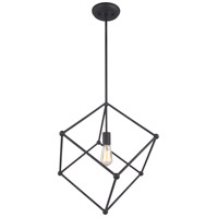 Matteo Lighting C53711MB Hoek 1 Light 20 inch Matte Black Pendant Ceiling Light
