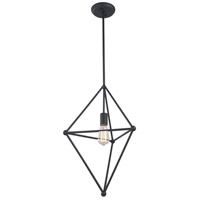 Matteo Lighting C53712MB Hoek 1 Light 16 inch Matte Black Pendant Ceiling Light