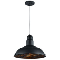 Matteo Lighting C54111MB Clarkson Series 1 Light 16 inch Matte Black Pendant Ceiling Light