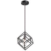 Matteo Lighting C54621RB Geometry Series 1 Light 11 inch Rusty Black Pendant Ceiling Light
