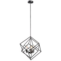 Matteo Lighting C54623RB Geometry Series 3 Light 20 inch Rusty Black Pendant Ceiling Light