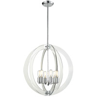 Matteo Lighting C61506CH Dangle Candle 6 Light 24 inch Chrome Pendant Ceiling Light