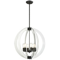 Matteo Lighting C61506RB Dangle Candle 6 Light 24 inch Rusty Black Pendant Ceiling Light