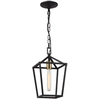 Matteo Lighting C61701RB Scatola 1 Light 8 inch Rusty Black and Aged Gold Brass accents Pendant Ceiling Light
