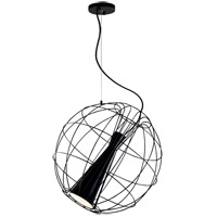 Matteo Lighting C62603MB Spotlight LED Matte Black Pendant Ceiling Light