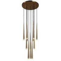 Matteo Lighting C62712AG Renaie LED 24 inch Aged Gold Brass Pendant Ceiling Light