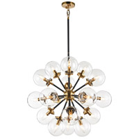 Matteo Lighting C62818AGCL Soleil 18 Light 32 inch Aged Gold Brass Chandelier Ceiling Light