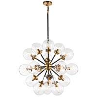Matteo Lighting C62818AGCL Soleil 18 Light 32 inch Aged Gold Brass Chandelier Ceiling Light