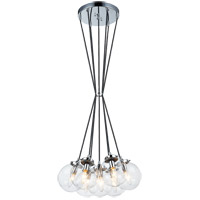 Matteo Lighting C63007CHCL The Bougie 7 Light 18 inch Chrome Pendant Ceiling Light