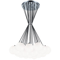 Matteo Lighting C63019CHOP The Bougie 19 Light 30 inch Chrome Chandelier Ceiling Light