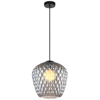 Matteo Lighting C68103SM Quilted Gem 1 Light 10 inch Matte Black Pendant Ceiling Light
